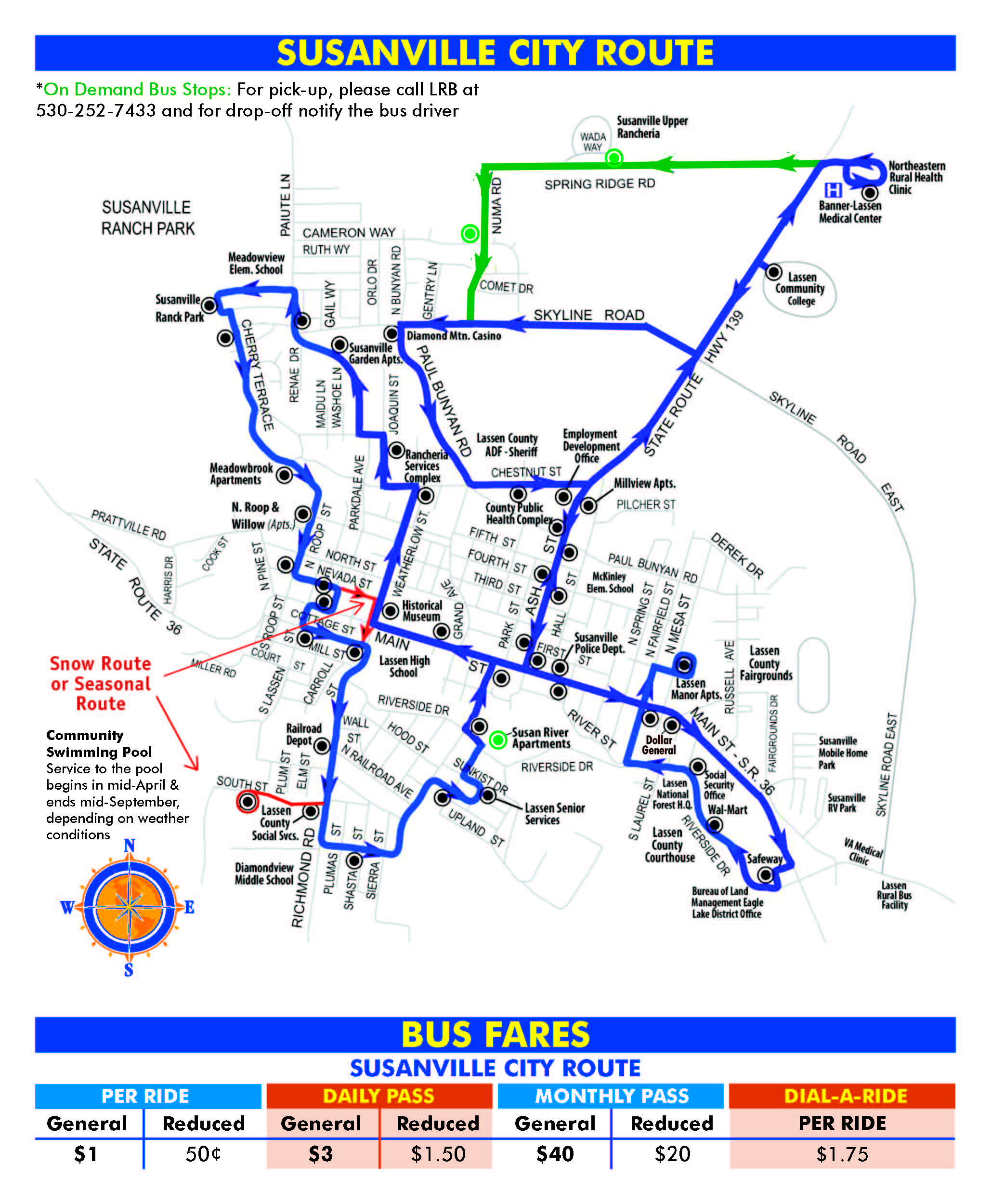Susanville City Route